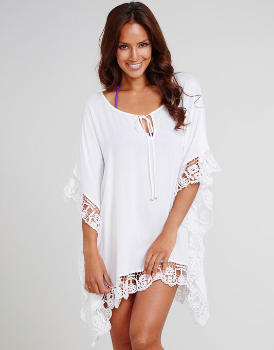 Honolulu Crochet Trim Kaftan