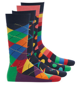 Happy Socks Multicolour Origami 4 Pack Sock Gift Box