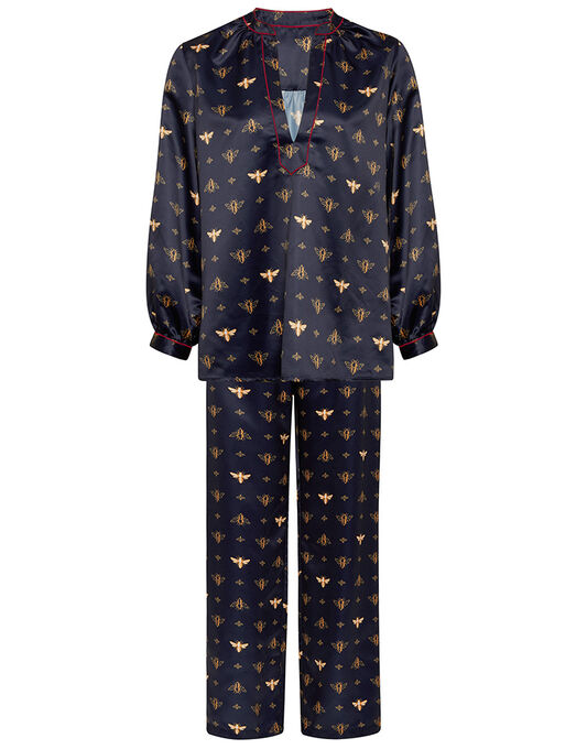 figleaves Bee Print Satin PJ Set