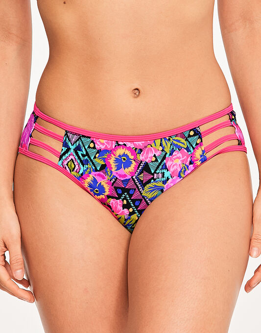 figleaves Santa Rosa Straping Floral Brief