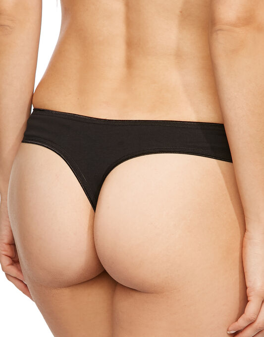 figleaves Just Peachy Cotton Comfort 3pk Thong