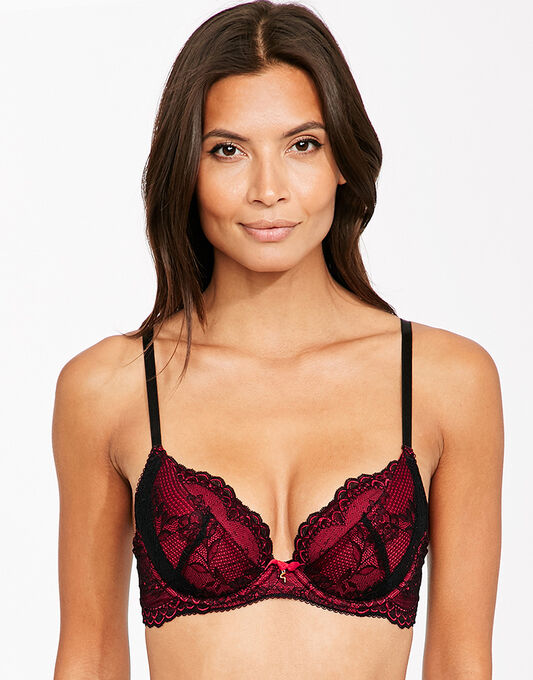 Superboost Lace Padded Plunge Bra