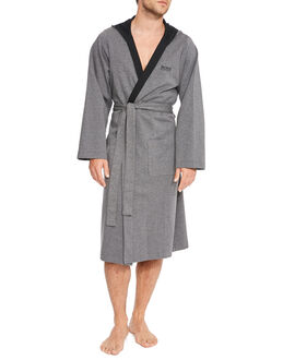 BOSS Black Double Face Hooded Robe