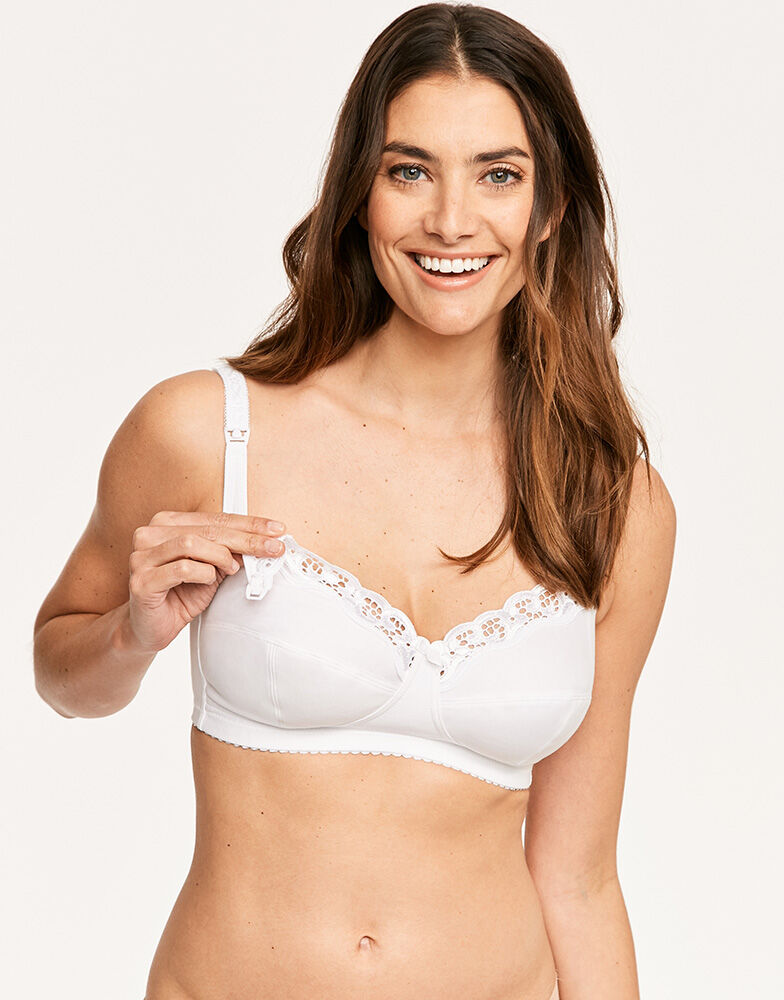 Cotton Non-wired Nursing Bra with lace 6000