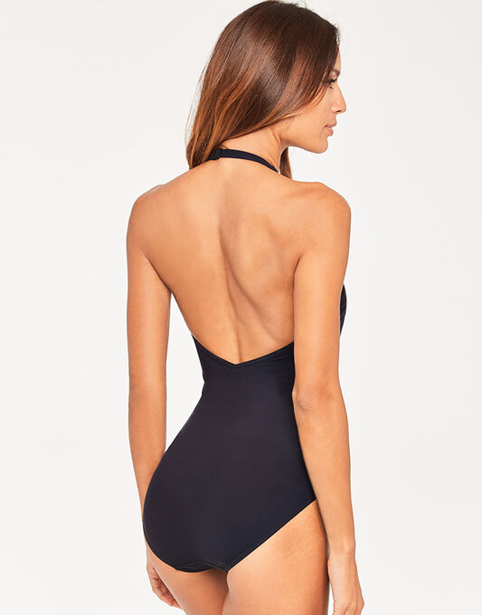 figleaves Icon Eyelet Shaping Black Swimsuit