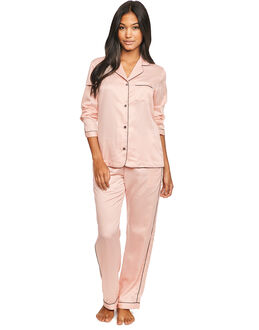 figleaves Satin Plain Pyjama Set