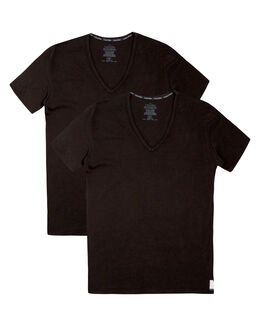 Calvin Klein ID Lounge 2 Pack Slim Fit V Neck Tee