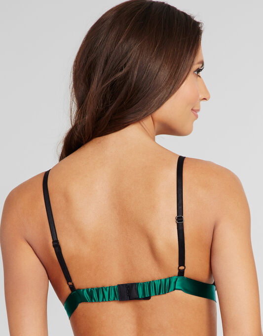 figleaves Tease Silk And Lace Soft Triangle Bralet
