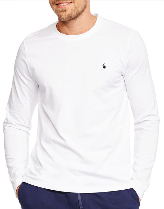 Polo Player Long Sleeve Crew Neck T-Shirt
