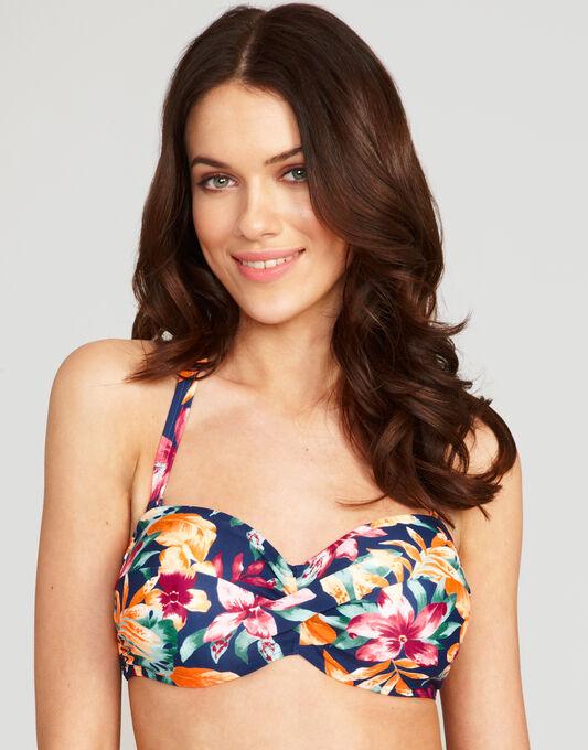 figleaves Lei Underwired Twist Bandeau Bikini Top
