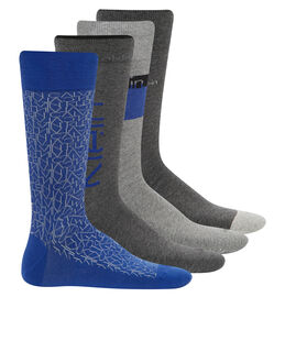 Calvin Klein Socks Derek 4 Pack Logo Sock Gift Box