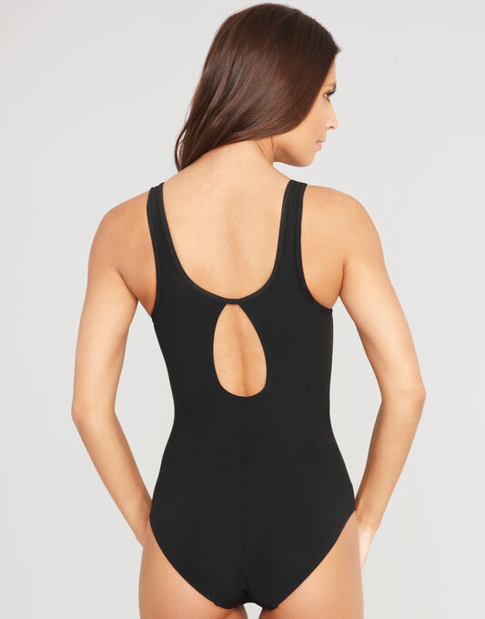 Icon Spot Mesh Shaping Swimsuit