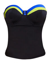 Revival Underwired Bandeau Padded Tankini Top