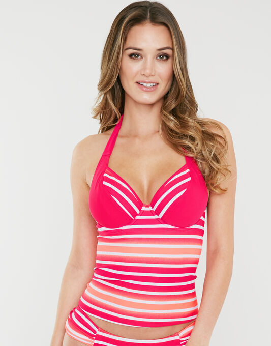 figleaves Framboise Underwired Halter Tankini Top