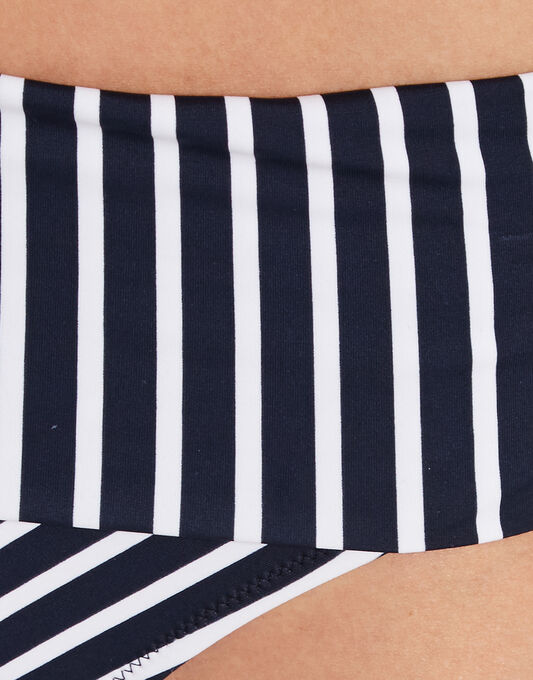 Pour Moi? Ahoy Fold Over Stripe Bikini Brief
