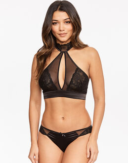 Gossard Venus Black High Neck Soft Bra