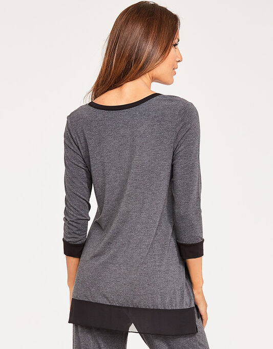 DKNY Season Silhouette 3/4 Sleeve Top