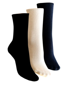 Charnos Hosiery Plain Cotton Comfort Top Crew Socks 2 Pack