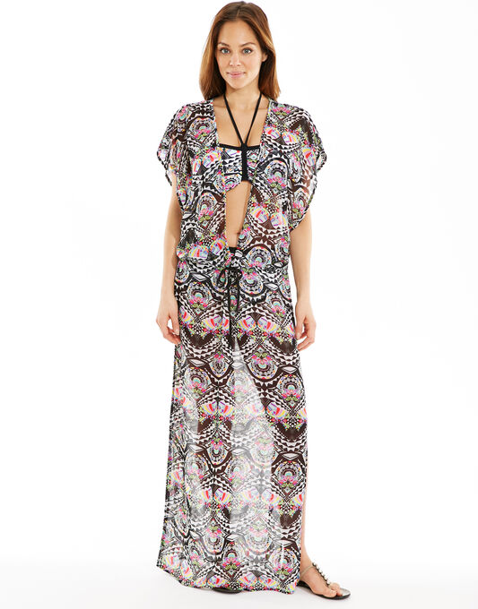 Zodiac Plunge Neck Maxi Dress