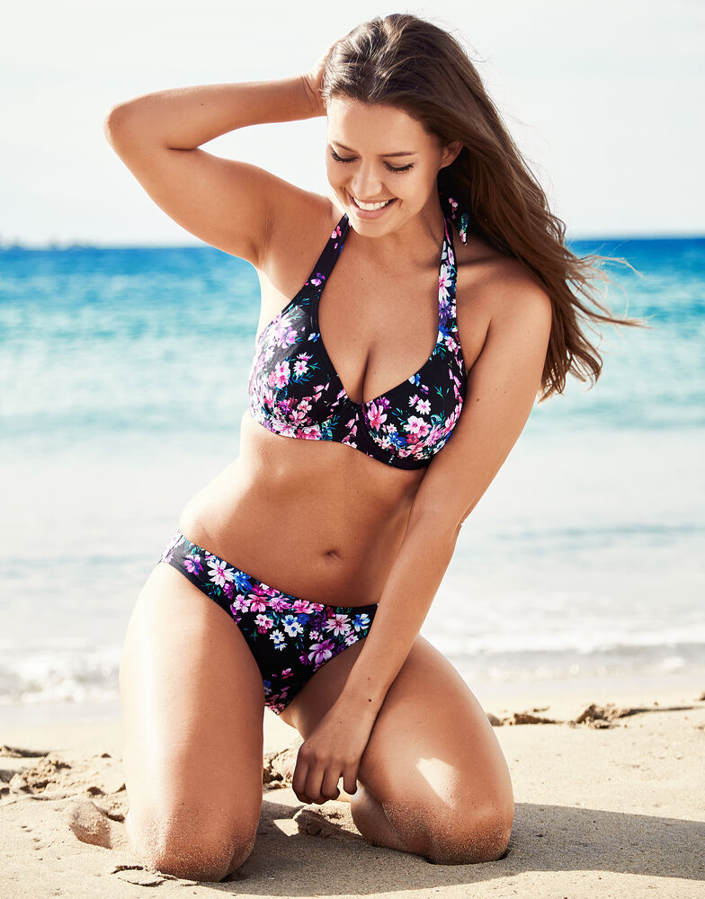 Dahlia Underwired Halter Bikini Floral Top