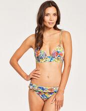 Iconic Print Plunge Bikini Top