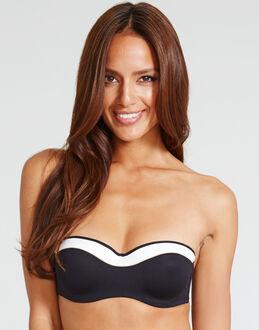 Huit Sunset Stripes Padded Strapless Bandeau Bikini Top