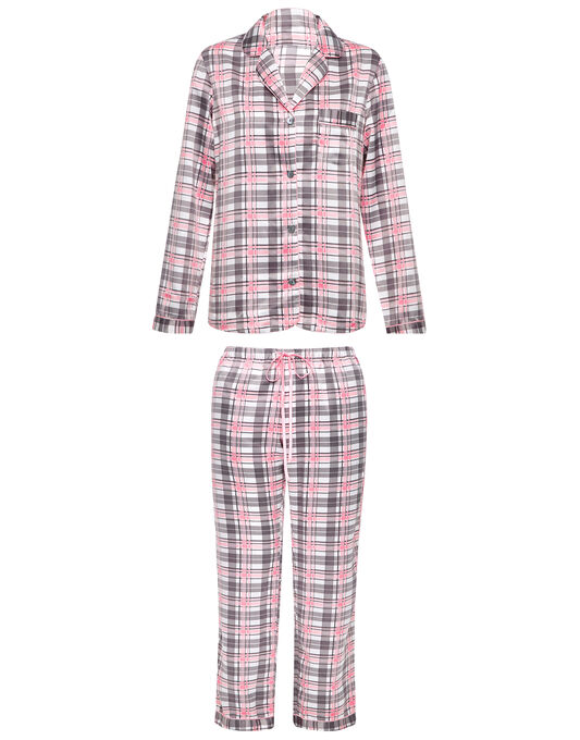 figleaves Satin Check Pyjama Set