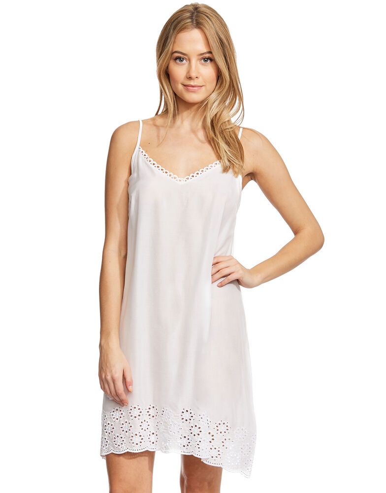 Embroidered Woven Chemise 1180681