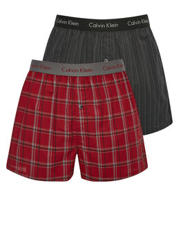 Calvin Klein Woven Boxer Slim Fit Holiday 2 Pack Gift Box
