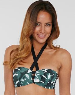 Huit Eden Fixed Straps Foam Bandeau Bikini Top
