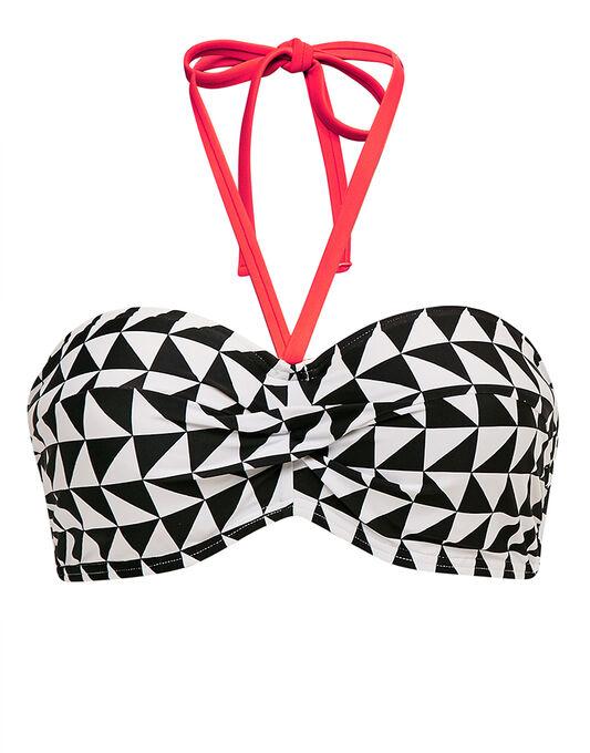 figleaves Juno Underwired Twist Bandeau Bikini Top