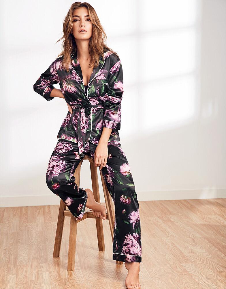 Phoebe Satin Belted Pyjama Set
