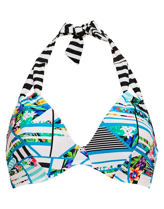 figleaves Puzzle Underwired Non Padded Halter Bikini Top