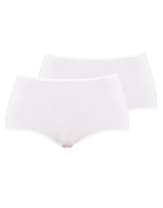 figleaves Comfort Caress Cotton-Modal 2 Pack Full Knicker