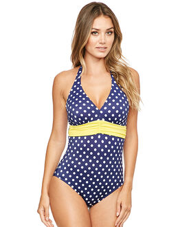 figleaves Tuscany Spot Underwired Tummy Control Swimsuit