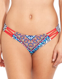 Red Carter Navajo Dream Side Cutout Cali Hipster Brief
