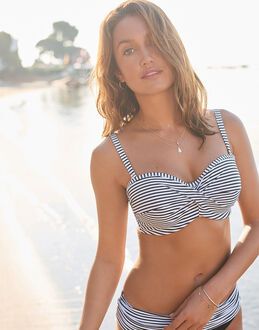 Panache Anya Stripe Underwired Bandeau Bikini Top