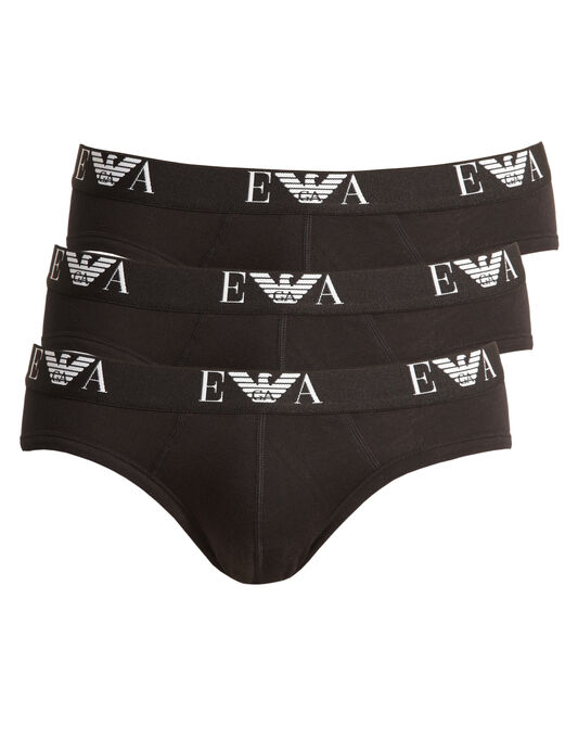 Emporio Armani Genuine Cotton 3 Pack Hip Brief