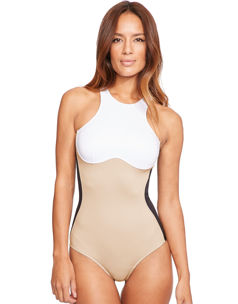 Iconic Colour Block One Piece Swimsuit