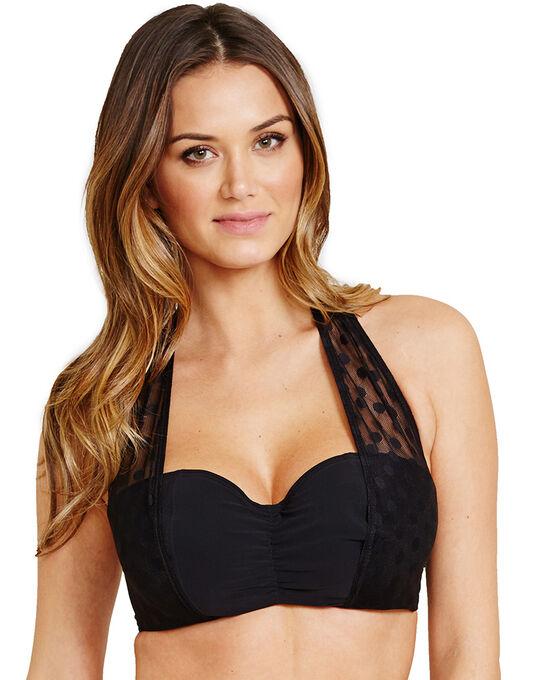 Icon Spot Mesh Underwired Halter Bikini Top