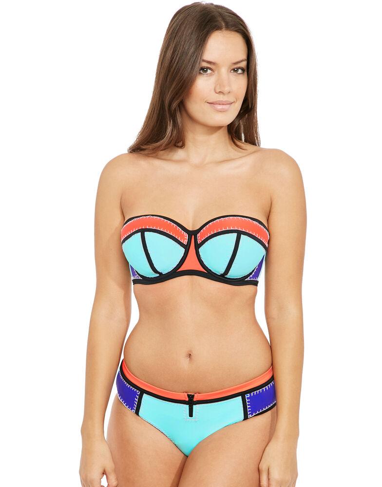 Cali Crochet Underwired Bandeau Scuba Bikini Top