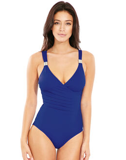 figleaves Illusion Draped Firm Control Swimsuit