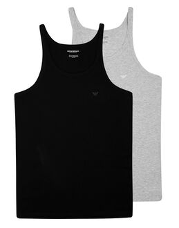 Emporio Armani Pure Cotton 2 Pack Tank Vest
