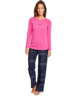 DKNY Long Sleeve Top and Pant PJ Set