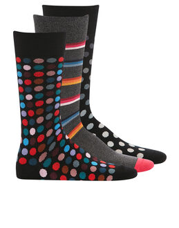 Paul Smith Spot and Stripe 3 Pack Sock Gift Box