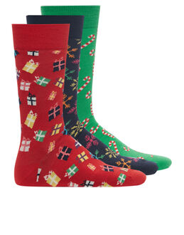 Happy Socks Christmas 3 Pack Sock Gift Box