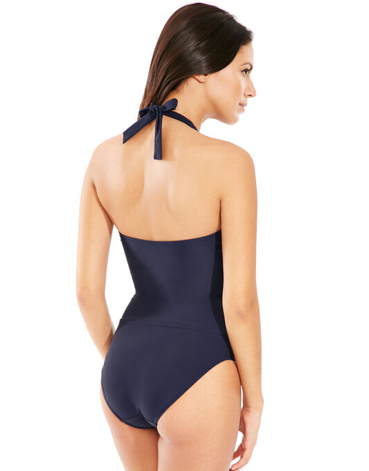 figleaves Illusion Halter Firm Control Swimsuit