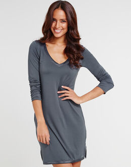 Calvin Klein Modal With Satin Long Sleeve Nightshirt