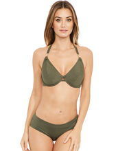 Glam Rock Underwired Bandless Halter Bikini Top