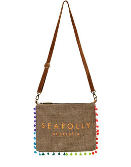 Seafolly Carried Away Hessian Crossbody Bag